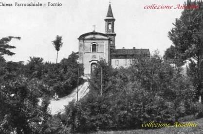 La Chiesa di Fornio prima della realizzazione della scalinata